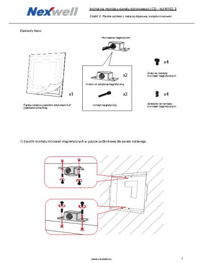 NXW102.3 – Instrukcja montazu mocowan