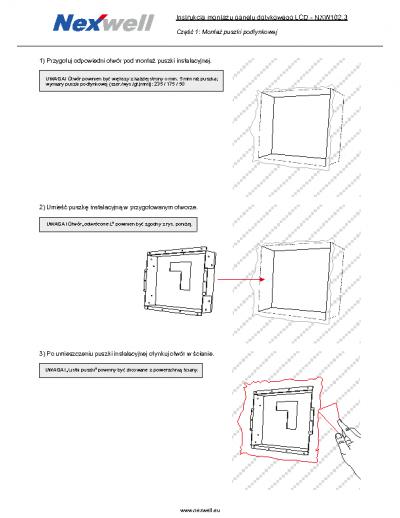 NXW102.3 – Instrukcja montazu puszki podtynkowej