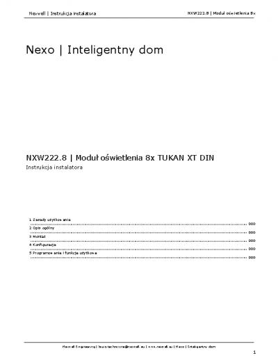 NXW222.8 – Instrukcja [PDF]