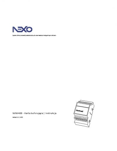 NXW400 – Instrukcja [PDF]