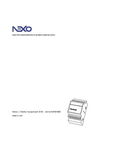 Karty rozszerzeń DIN – seria 400 – Instrukcja [PDF]