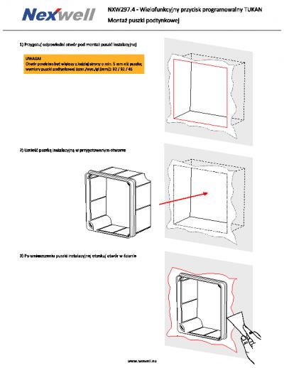 Instrukcja montażu na ścianie